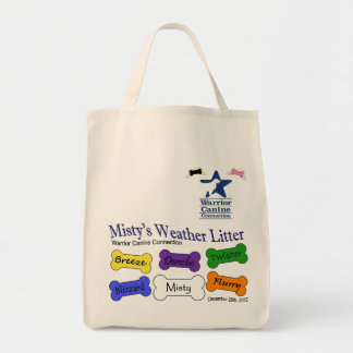 Misty s Litter - grocery tote Tote Bags
