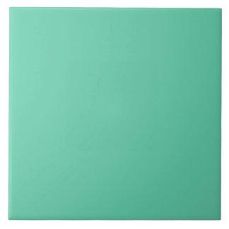 Misty Sea Aqua Teal Blue Solid Color Background Ceramic Tile