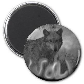 MISTY SMOKIN WOLF - VERY EERIE 2 INCH ROUND MAGNET