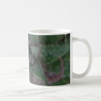 Misty Succulent, Green Purple, Nature, Flora Plant Coffee Mug