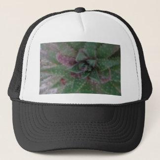 Misty Succulent, Green Purple, Nature, Flora Plant Trucker Hat