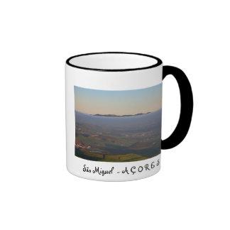 Misty sunrise ringer coffee mug