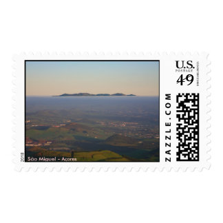 Misty sunrise postage
