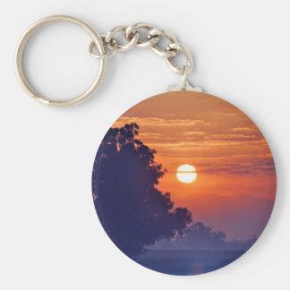 Misty Sunrise South Africa Basic Round Button Keychain