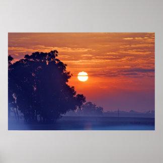 Misty Sunrise South Africa Poster
