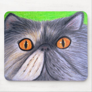Misty the Grey Persian Cat Mousepad