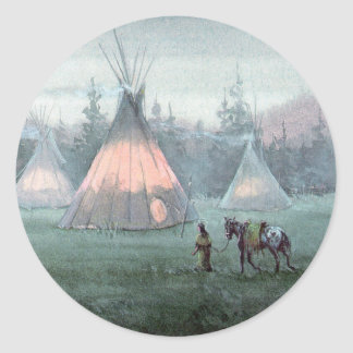 MISTY TIPI by SHARON SHARPE Classic Round Sticker