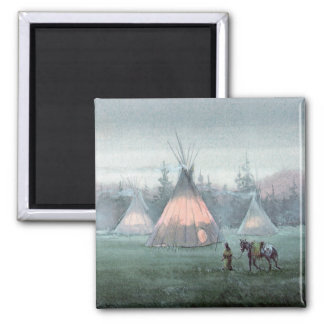 MISTY TIPI CAMP by SHARON SHARPE Magnet