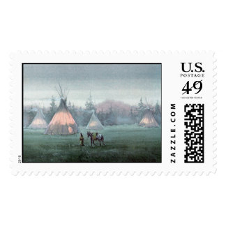 MISTY TIPI CAMP by SHARON SHARPE Postage