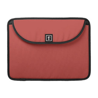 Misty Tomato Red Solid Color Sleeves For MacBook Pro