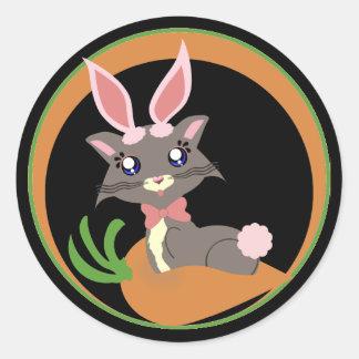 Misty Toon Kitty Bunny! Sticker