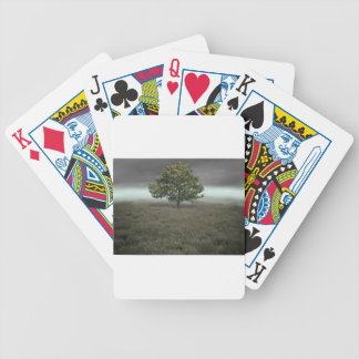 Misty tree bicycle poker deck