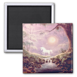 MISTY UNICORN by SHARON SHARPE 2 Inch Square Magnet