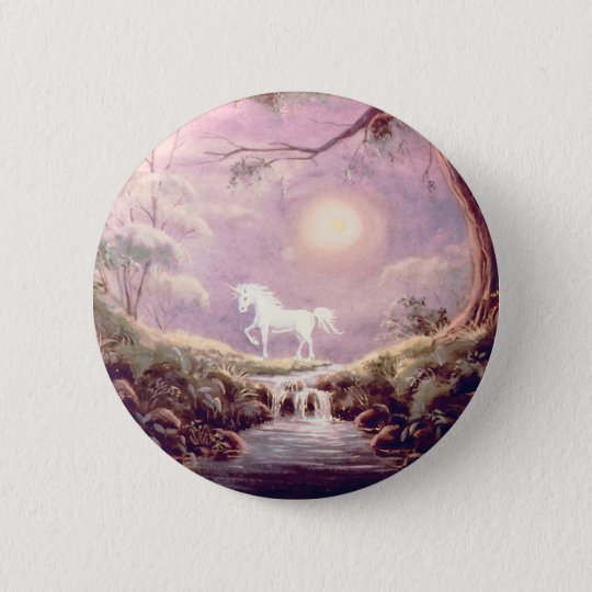 MISTY UNICORN  by SHARON SHARPE Button