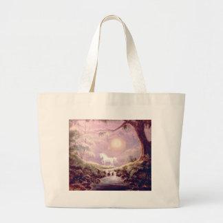 MISTY UNICORN by SHARON SHARPE Large Tote Bag