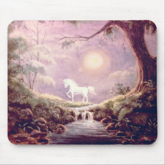 MISTY UNICORN by SHARON SHARPE Mouse Pad