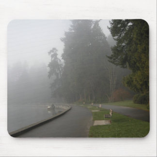 Misty Vancouver Seawall Mouse Pad