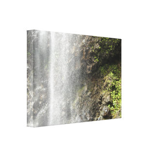 Misty Waterfall Canvas Print