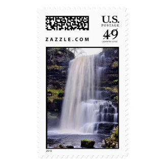 Misty waterfall Postage Stamp