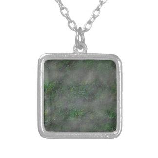 Misty Web Square Pendant Necklace