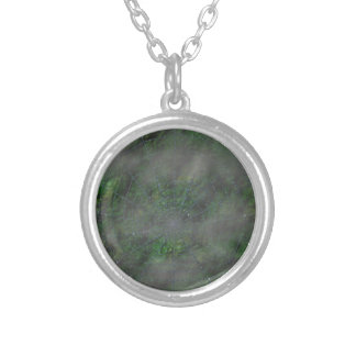 Misty Web Round Pendant Necklace