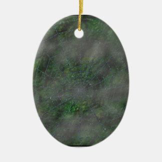 Misty Web Ceramic Oval Decoration