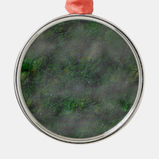 Misty Web Silver-Colored Round Decoration