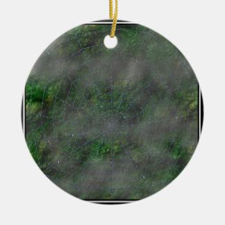 Misty Web Round Ceramic Decoration