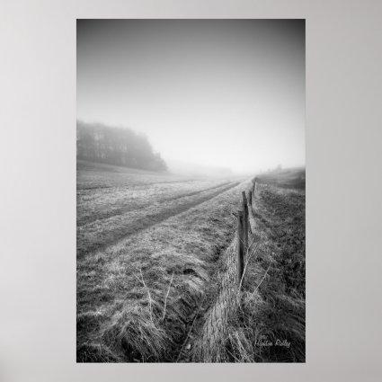 Misty Wiltshire Field print