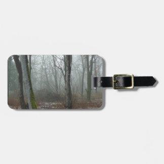 Misty Wood Luggage Tag