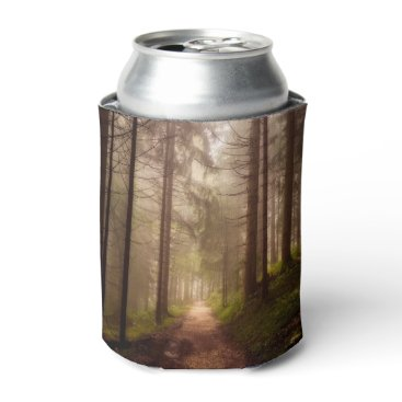 Beach Themed Misty Woodland Path Can Cooler