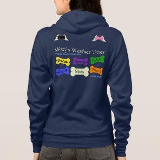 Misty's Weather Litter Zip print hoodie