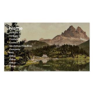 Misurinasee and Drei Zinnen, Tyrol, Austro-Hungary Business Card