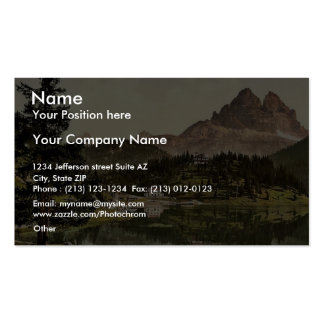 Misurinasee and Drei Zinnen, Tyrol, Austro-Hungary Business Card Templates