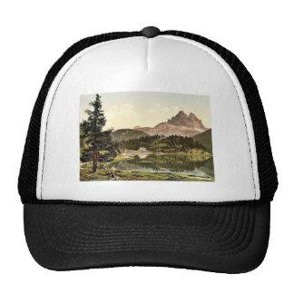 Misurinasee and Drei Zinnen, Tyrol, Austro-Hungary Mesh Hat