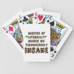 """Misuse of """"Literally"""" Bicycle Playing Cards"""