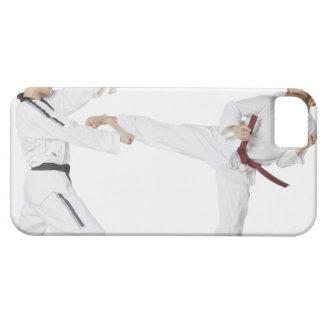 Mit de Kickboxing de los übendes de Mann del iPhone 5 Carcasas