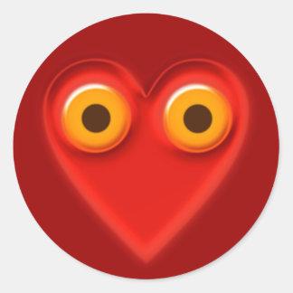 mit dem Herzen sehen seeing with the heart Classic Round Sticker