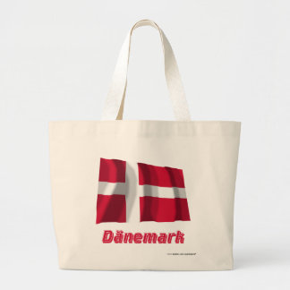 Mit Namen de Dänemark Fliegende Flagge Bolsa Tela Grande