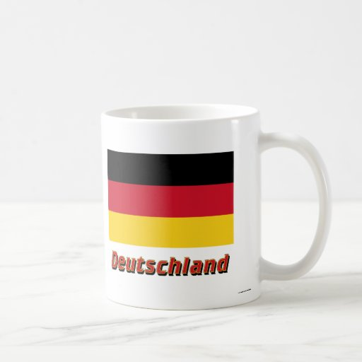 Mit Namen de Deutschland Flagge Taza