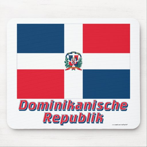 Mit Namen de Dominikanische Republik Flagge Mouse Pads