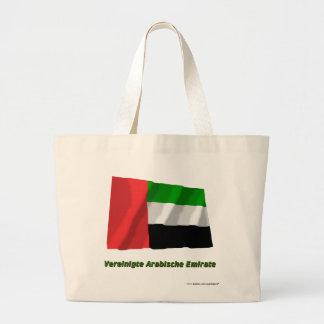 Mit Namen de Flagge del emirato de Vereinigte Arab Bolsa Tela Grande