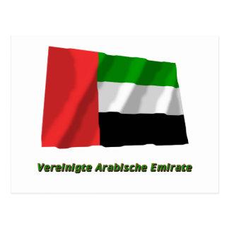 Mit Namen de Flagge del emirato de Vereinigte Postales