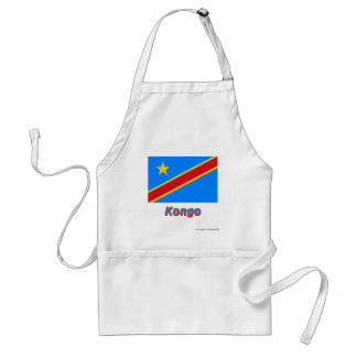Mit Namen de Flagge del Kongo de Demokratische Rep Delantal