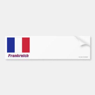 Mit Namen de Frankreich Flagge Pegatina Para Auto