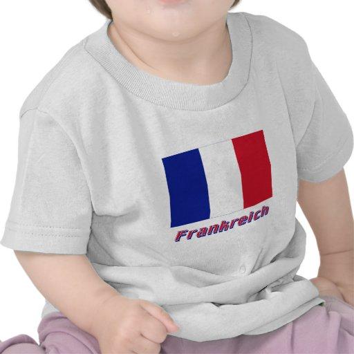 Mit Namen de Frankreich Flagge Camisetas