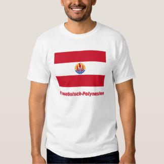 Mit Namen de Französisch-Polynesien Flagge Polera