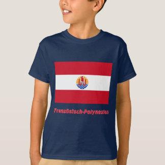 Mit Namen de Französisch-Polynesien Flagge Remera