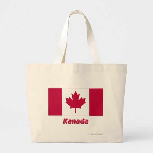 Mit Namen de Kanada Flagge Bolsas