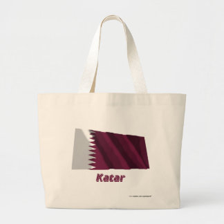 Mit Namen de Katar Fliegende Flagge Bolsas